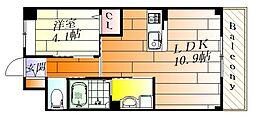 ラ・ジュネスSenri 1階1LDKの間取り