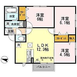 メゾン・ソレイユIII[2階]の間取り