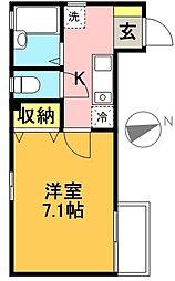東京都世田谷区豪徳寺1丁目の賃貸アパートの間取り