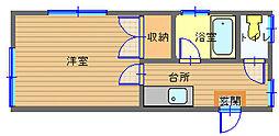 長崎県長崎市相生町の賃貸アパートの間取り