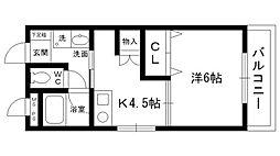 ハイツキノシタ[105号室]の間取り