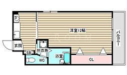 エレガントハイツ藤[6階]の間取り