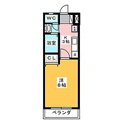 フローレス21[1階]の間取り