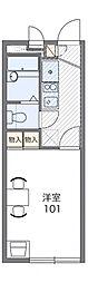レオパレス王子台弐番館[1階]の間取り