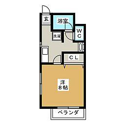 宮城県仙台市太白区西多賀1丁目の賃貸アパートの間取り
