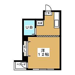 木村屋ビル[2階]の間取り