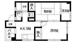 東雲マンション A棟・B棟[B101号室]の間取り
