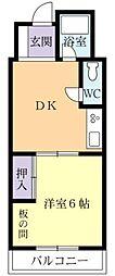リバーサイドF・K[7階]の間取り