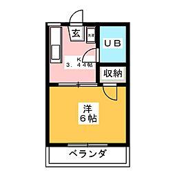 ウイングハイツ片貝[2階]の間取り