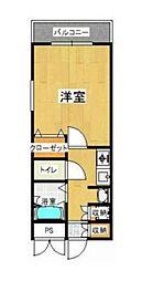 福岡県北九州市小倉北区青葉2丁目の賃貸マンションの間取り