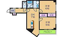パレーシャル34[4階]の間取り