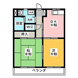 メゾン・ド・フルール[2階]の間取り