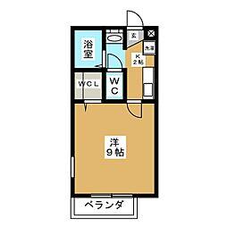 シティグランツ黒笹[2階]の間取り