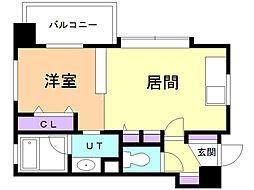 ラ・クラッセ札幌デュアルコート 9階1LDKの間取り