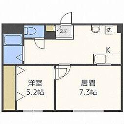 第3澄川銀座パレス[3階]の間取り
