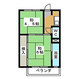 ビレッジハウス穂積 2号棟[1階]の間取り