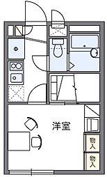 千葉県松戸市北松戸3丁目の賃貸アパートの間取り