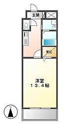 愛知県名古屋市港区善進本町の賃貸マンションの間取り