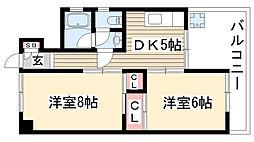 第3太田コーポ[206号室]の間取り
