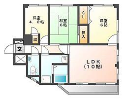 米商ビル[3階]の間取り