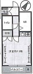 ランドマリーナ貴賓館 bt[-208号室]の間取り