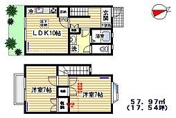 寺島ハウス[1号室]の間取り