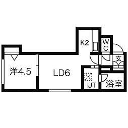 サウザンドファイン厚別[2階]の間取り