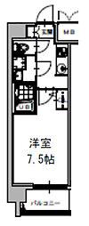S-RESIDENCE福島Grande 5階1Kの間取り