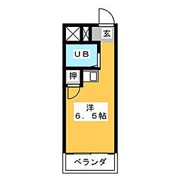 幸川マンション 縁[2階]の間取り