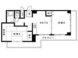 JR東海道本線 摂津本山駅 4階建[3階]の間取り