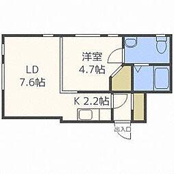 MARUYAMA‐STUDIO[4階]の間取り