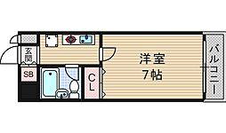 クレインハイツ南堀江[2階]の間取り