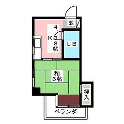 ボーヌングGOTO[2階]の間取り