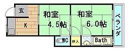 [テラスハウス] 大阪府大阪市港区南市岡1丁目 の賃貸【/】の間取り