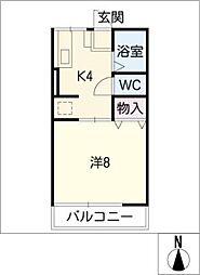 カルムK[2階]の間取り