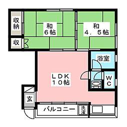 カムホートMハウス[2階]の間取り