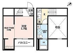 Creanjyu suzu[1階]の間取り