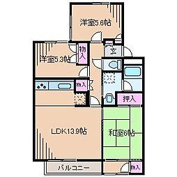 神奈川県横浜市港北区師岡町の賃貸マンションの間取り