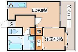 兵庫県神戸市長田区宮丘町1丁目の賃貸アパートの間取り