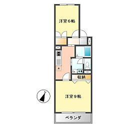 愛知県名古屋市西区山木2の賃貸アパートの間取り