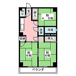 第2太田コーポ[3階]の間取り