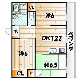 第2丸栄ビル[3階]の間取り