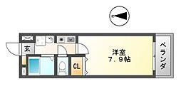 セイント[4階]の間取り