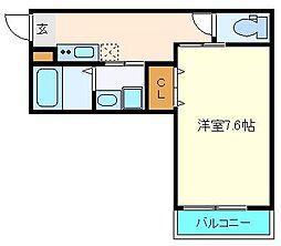 アリュール愛宕橋 3階1Kの間取り