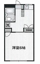神奈川県横浜市西区戸部町5丁目の賃貸アパートの間取り