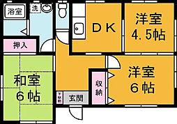 [一戸建] 茨城県つくば市梅園2丁目 の賃貸【/】の間取り