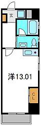 京阪本線 土居駅 徒歩3分の賃貸マンション 5階ワンルームの間取り