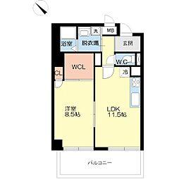 富士プラザ5[6階]の間取り