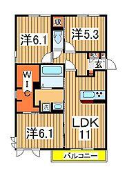 仮)D-roomセントラルパーク[205号室]の間取り