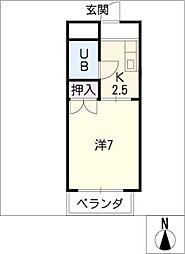 福善ビル[5階]の間取り